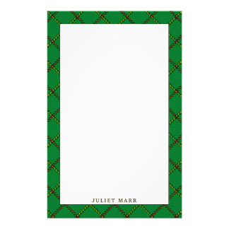 Elegant Tribe of Mar Clan Tartan Plaid Stationery