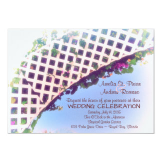 Elegant Tropical Floral Garden Wedding Invitation