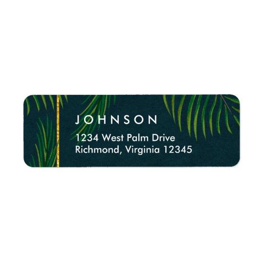 Elegant Tropical Return Address Labels
