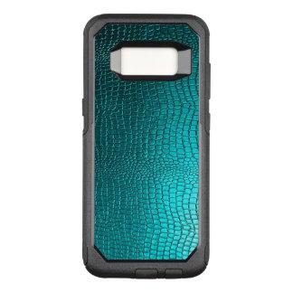 Elegant Turquoise Blue Snakeskin Texture OtterBox Commuter Samsung Galaxy S8 Case
