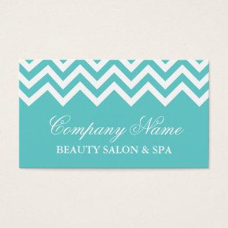 Elegant turquoise chevron pattern business card