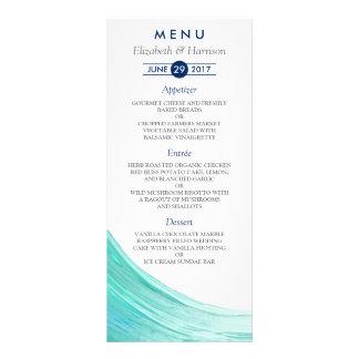 Elegant Turquoise Tides Beach Wedding Menu Cards Rack Card