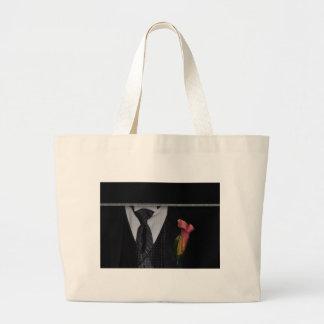 Elegant Tuxedo design Jumbo Tote Bag