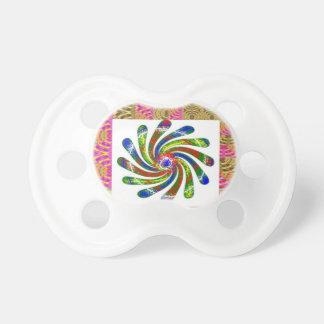 ELEGANT Twirl Wheel art Pacifiers