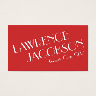 Elegant Typographic Business Card