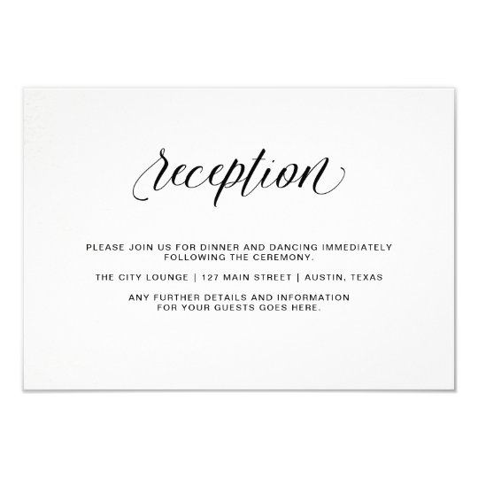 Elegant Typography on Watercolor Paper | Reception Card