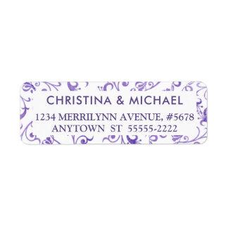 Elegant Ultra Violet Purple Watercolor Flourishes