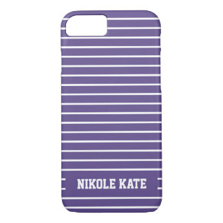 Elegant Ultra Violet Stripes Monogram iPhone 8/7 Case