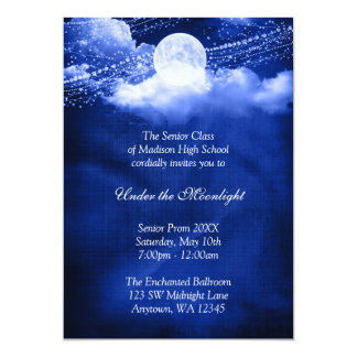 Elegant Under the Moonlight Prom Formal Dance Card