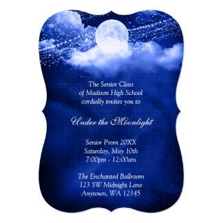 "Elegant Under the Moonlight Prom Formal Dance 5"" X 7"" Invitation Card"