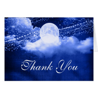 Elegant Under the Moonlight Thank You Card