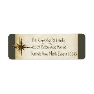Elegant Understated Christmas Motif Personalized Return Address Label