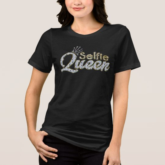 Elegant Unique Black Gold Diamond Selfie T-Shirt