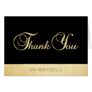 Elegant Unique Black Gold Foil Business Thank You Card
