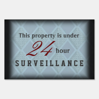Elegant Upscale Video Surveillance Sign