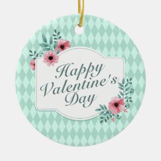 Elegant Valentine's Day Floral Frame Ornament