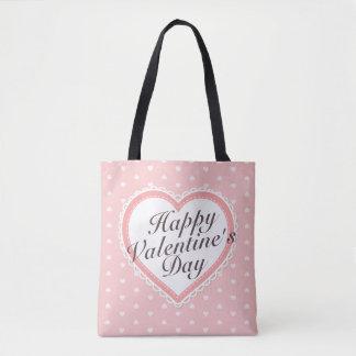 Elegant Valentine's  Day Pink Hearts Tote Bag