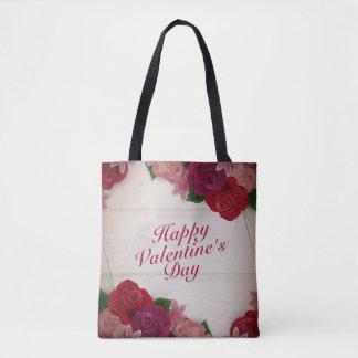 Elegant Valentine's Day Roses Frame Tote Bag