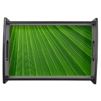 Elegant Vanity Tray with palm fronds design Food Trays