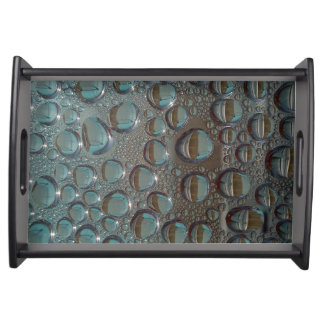 Elegant Vanity Tray with water drops design Serving Platter