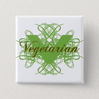 Elegant Vegetarian 2 Inch Square Button