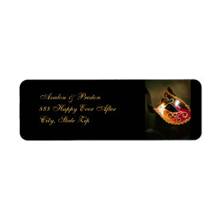 Elegant Venetian Masquerade Mask Address Label