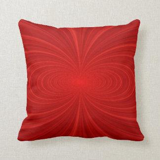 Elegant Vibrant Red Swirl Throw Pillow