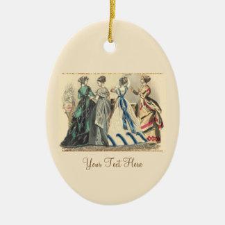 Elegant Victorian Fashions Ceramic Oval Ornament