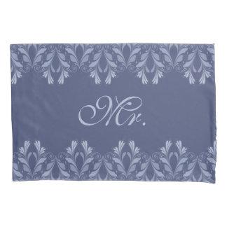 Elegant Victorian floral pattern monogram Pillowcase