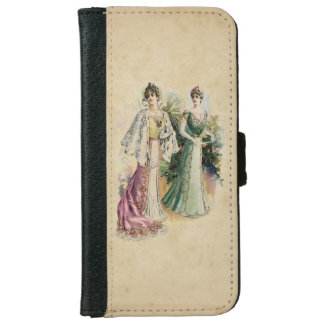 Elegant Victorian Ladies iPhone 6 Wallet Case