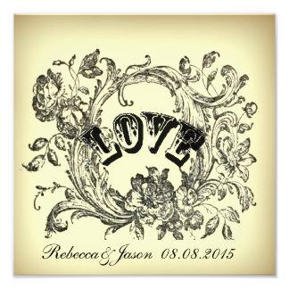 elegant victorian swirls flourish vintage wedding photo