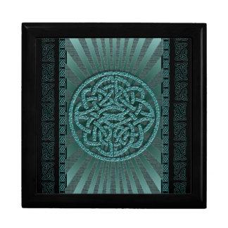 Elegant victorian vintage celtic blue gift box