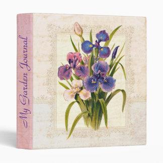Elegant Victorian Vintage Iris Garden Journal Binders