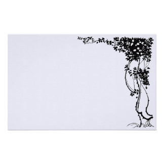 Elegant Vine Floral Vintage Art Stationery Paper