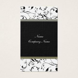 Elegant vine swirls business card