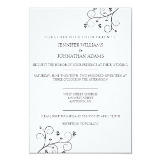 Elegant Vines Wedding Invitations