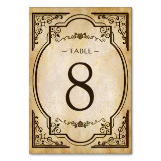 Elegant Vintage Antique Wedding Table Number Card
