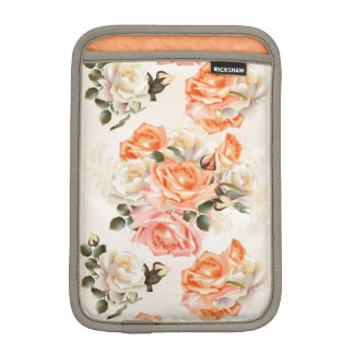Elegant Vintage beige rose pattern iPad Mini Sleeve
