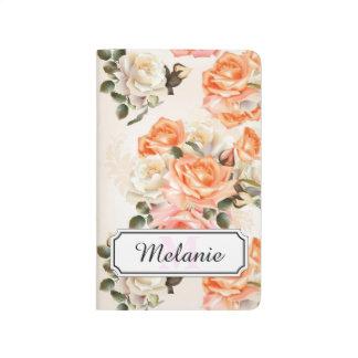 Elegant Vintage beige rose pattern Journal