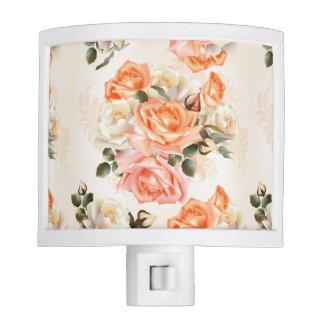 Elegant Vintage beige rose pattern Nite Light