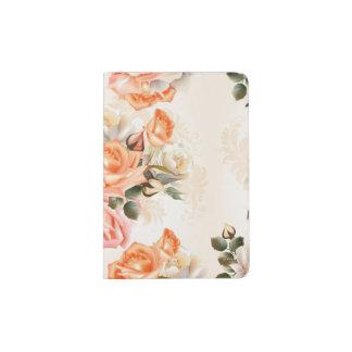 Elegant Vintage beige rose pattern Passport Holder