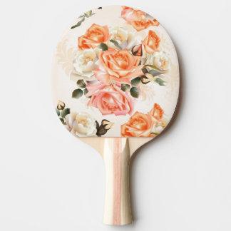 Elegant Vintage beige rose pattern Ping Pong Paddle