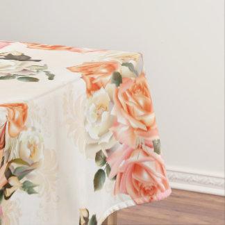 Elegant Vintage beige rose pattern Tablecloth