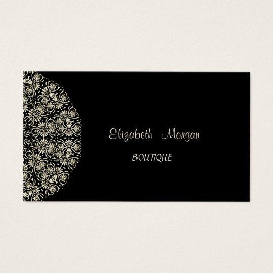 Elegant Vintage,Black , Lace Business Card