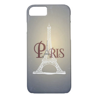 Elegant Vintage Blue Eiffel Tower Paris Design iPhone 8/7 Case
