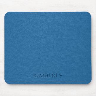 Elegant Vintage Blue Faux Leather 2 Mouse Pad