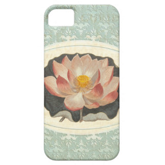 Elegant Vintage Botanical Print of Lotus Blossom Case For The iPhone 5