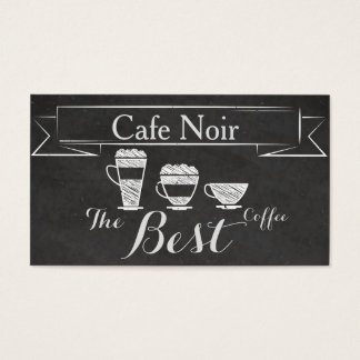 Elegant Vintage Chalk Cafe Pub Bar Coffee Card