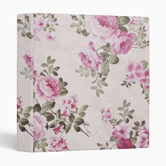 Elegant VIntage Cottage Floral Rose Binder