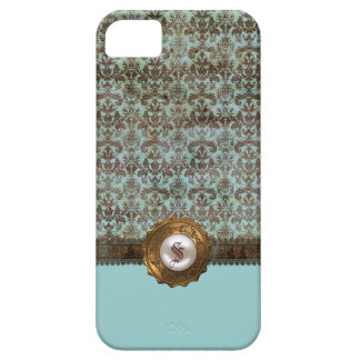 Elegant Vintage Damask Monogram iPhone 5 Case